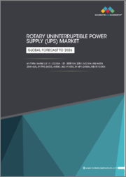 Rotary Uninterruptible Power Supply (UPS) Market by Power Rating (up to 1000 kVA, 1001-2000 kVA, 2001-2500 kVA, and Above 2500 kVA), Type (Diesel, Hybrid), Application, & Region(APAC, North America, Europe, MEA, South America ) - Global Forecast to 2026