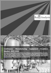 Continuous Manufacturing Equipment Providers Market: Distribution by Type of Molecule (Small Molecule and Biologics), Type of Equipment (Mixers, Granulators, Dryers, Bioreactors / Reactors and Others), Stage of Manufacturing