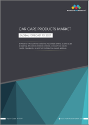 Car Care Products Market by Product Type (Cleaning & Washing, Polishing & Waxing, Sealing Glaze & Coating), Application (Interior, Exterior), Consumption, Solvent (Water, Foam-based), Vehicle Type, Distribution Channel & Region - Global Forecast to 2027
