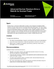 Advanced Nuclear Reactors Drive a Rebirth for Nuclear Power