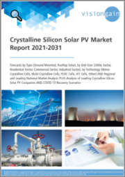 Crystalline Silicon Solar PV Market Report 2021-2031: Forecasts by Type (Ground-Mounted, Rooftop Solar), by End-User, by Technology, Regional & Leading National Market Analysis, Leading Companies, and COVID-19 Recovery Scenarios