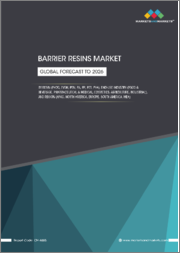 Barrier Resins Market by Type (PVDC, EVOH, PEN), Application (Food & Beverage, Pharmaceutical & Medical, Cosmetics, Agriculture, Industrial), and Region (Asia-Pacific, North America, Europe, South America, Middle East & Africa) - Global Forecast to 2026