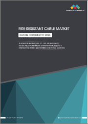 Fire-Resistant Cable Market by Insulation Material (EPR, LSZH, PVC, XLPE), End-use Industry (Automotive & Transportation, Building & Construction, Energy, Manufacturing), & Region (North America, Europe, APAC, MEA, South America)-Global Forecast to 2026