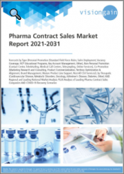 Pharma Contract Sales Market Report 2021-2031: Forecasts by Type - Personal Promotion, Non-Personal Promotion, Co-Promotion, by Therapeutic, Regional & Leading National Market Analysis, Leading Companies, COVID-19 Recovery Scenarios