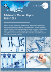 Telehealth Market Report 2021-2031: Forecasts by Type, by Component, by Mode of Delivery, by End User, Regional & Leading National Market Analysis, Leading Companies, and COVID-19 Recovery Scenarios