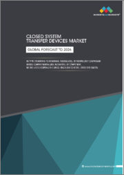 Closed System Transfer Devices Market by Type (Membrane-to-Membrane, Needleless), Technology (Diaphragm based, Compartmentalized, Filtration), Component, End User (Hospitals & Clinics, Oncology Centers), and Region - Global Forecast to 2026