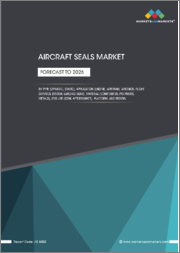 Aircraft Seals Market by Type (Dynamic and Static), Application (Engine, Airframe, Avionics, Flight Control System, Landing Gear), Material (Composites, Polymers, Metals), End Use (OEM, Aftermarket), Platform, and Region - Forecast to 2026