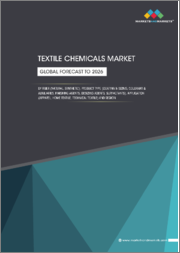 Textile Chemicals Market by Fiber (Natural, Synthetic), Product Type (Coating & Sizing, Colorants & Auxiliaries, Finishing Agents, Desizing Agents, Surfactants), Application (Apparel, Home Textile, Technical Textile) & Region - Global Forecast to 2026