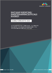 Nuclear Medicine/Radiopharmaceuticals Market by Type (Diagnostic (SPECT - Technetium, PET - F-18), Therapeutic (Beta Emitters - I-131, Alpha Emitters, Brachytherapy - Y-90)), Application (Oncology,Cardiology), Procedures - Global Forecast to 2026