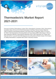 Thermoelectric Market Report 2021-2031: Forecasts by Products, by Material, by Technology, Regional & Leading National Market Analysis, Leading Companies, and COVID-19 Recovery Scenarios
