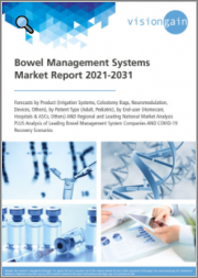 Bowel Management Systems Market Report 2021-2031: Forecasts by Product, by Patient Type, by End-user, Regional & Leading National Market Analysis, Leading Companies, and COVID-19 Recovery Scenarios