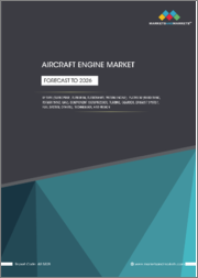 Aircraft Engine Market by Type (Turboprop, Turbofan, Turboshaft, Piston Engine), Platform (Fixed wing, Rotary Wing, UAV), Component(Compressor, Turbine, Gear Box, Exhaust Nozzle, Fuel System), Technology, and Region - Forecast to 2026