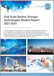 Grid Scale Battery Storage Technologies Market Report 2021-2031: Forecasts by Application, by Type, by End-user, Regional & Leading National Market Analysis, Leading Companies, and COVID-19 Recovery Scenarios