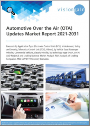 Automotive Over the Air (OTA) Updates Market Report 2021-2031: Forecasts by Application Type, by Vehicle Type, by Technology Type, Regional & Leading National Market Analysis, Leading Companies, COVID-19 Recovery Scenarios