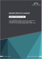 Drone Services Market by Type (Platform Service, MRO, and Training & Simulation), Application, Industry, Solution (End-to-End, Point), and Region ( North America, Europe, Asia Pacific, Middle East, and Row) - Global Forecast to 2026