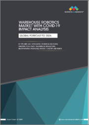 Warehouse Robotics Market With COVID-19 Impact Analysis by Type (AMR, AGV, Articulated, Cylindrical and SCARA) Function (Pick & Place, Palletizing & Depalletizing, Transportation, Packaging), Payload, Industry, and Region - Global Forecast to 2026