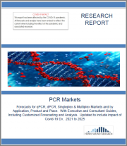 PCR Markets. Forecasts for qPCR, dPCR, Singleplex & Multiplex Markets and by Application, Product and Place. With Executive and Consultant Guides, Including Customized Forecasting and Analysis. Updated to include impact of Covid-19 Dx. 2021 to 2025