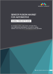 Sensor Fusion Market for Automotive by Technology (Camera, LIDAR & RADAR), Data Fusion Type & Level (Homogeneous, Heterogeneous, Data, Decision, Feature), Software Layer, Vehicle Type (ICE, Autonomous & Electric) and Region-Global Forecast to 2030
