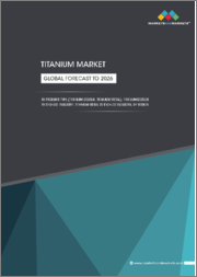 Titanium Market by Product Type (Titanium Dioxide, Titanium Metal), Titanium Dioxide ByEnd-use Industry, Titanium Metal By End-use Industry and Region (North America, Europe, Asia-Pacific, MEA & South America) - Global Forecast to 2026