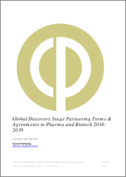 Global Discovery Stage Partnering Terms and Agreements in Pharma and Biotech 2014- 2021