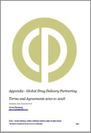 Global Drug Delivery Partnering Terms and Agreements 2014-2021
