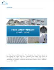 Fiber Cement Market: By Type (Asbestos, Polypropylene, PVA, Others) By Production Process (Hatschek, Extrusion, Perlite) By Product (Flat Sheet, Laminated Skirt, Others) By Application (Agriculture, Residential, Others) By Geography: (2015-2020)