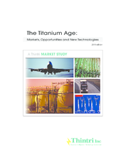 The Titanium Age: Markets, Opportunities, and New Technologies, 2019