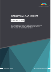Satellite Payloads Market by Type (Communication, Imagery, Software-defined Payload, Navigation), Satellite (CubeSat, Small Satellite, Medium Satellite, Large Satellite), Orbit, Application, End User, Frequency, and Region - Forecasts to 2026