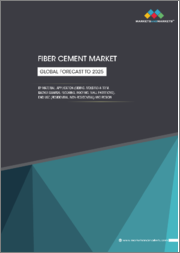 Fiber Cement Market by Material (Portland Cement, Application (Siding, Molding & Trim, Backer boards, Flooring, Roofing, Wall Partitions), End use (Residential, Non-residential) and Region - Global Forecast To 2025
