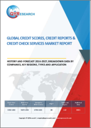 Global Credit Scores, Credit Reports & Credit Check Services Market Report, History and Forecast 2016-2027