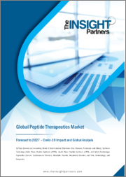 Peptide Therapeutics Market Forecast to 2027 - COVID-19 Impact and Global Analysis By Type, Route of Administration, Synthesis Technology, and Application, and Geography